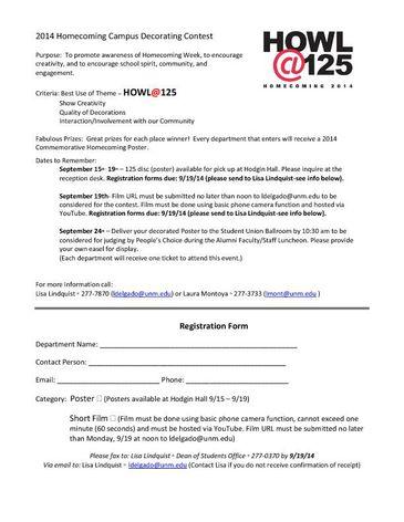 Campus Decorating Registration 2014