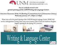 CAPS New Language and Writing Center opening soon