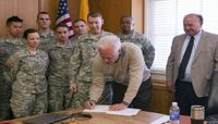 UNM ROTC, Student Affairs sign LoboRESPECT MOU