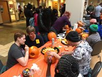 Students get into Halloween spirit with pumpkin carving