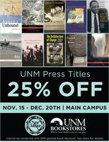 UNM Bookstore offers 25 percent off all UNM Press titles
