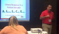 UNM-Gallup officer presents Active Shooter/Campus Safety training