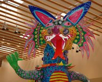 Mexican folk art piece recreates legendary creature