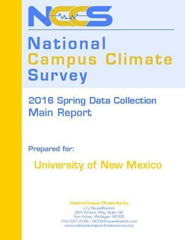 UNM-NCCS Campus Climate Survey