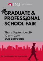 UNM's Graduate & Professional School Fair 2016 set for Sept. 29