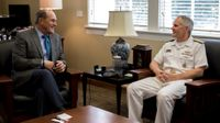 Rear Admiral Phillip G. Sawyer visits The University of New Mexico