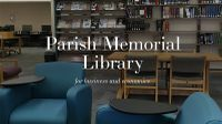 Parish Memorial Library's third annual Fall Lecture Series