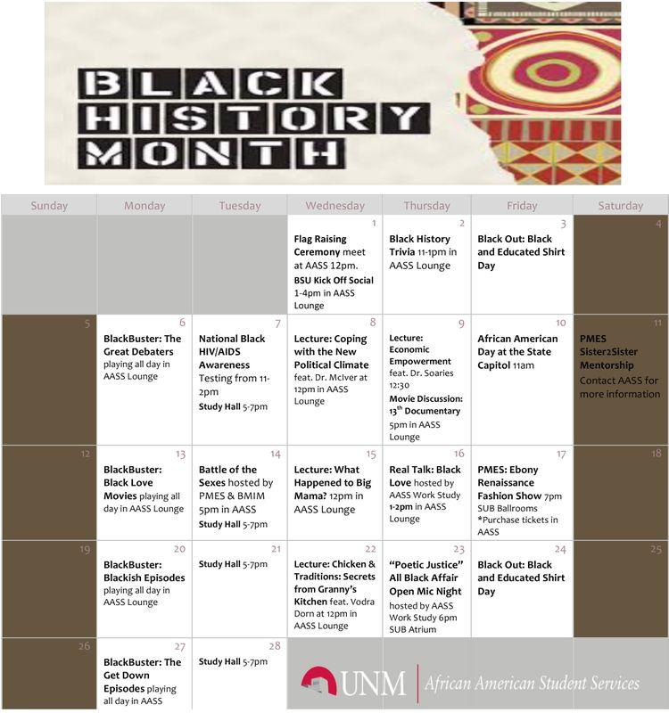 BHM Calendar