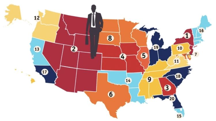 The National Jurist job market map