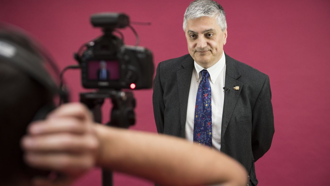 Acting UNM President Chaouki Abdallah