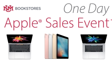 UNM Bookstore holds 'One-day Apple Sale' and 'Beat UNLV Game Day Sale' Friday, Nov. 17