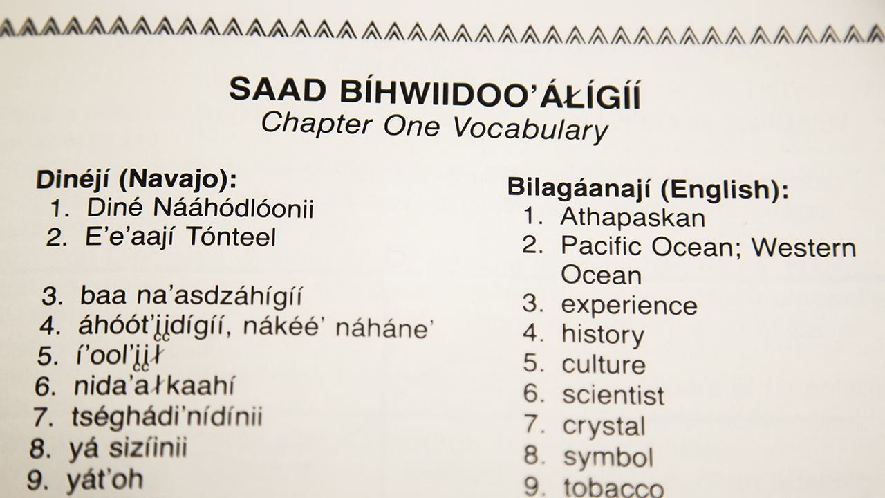 Navajo Vocabulary