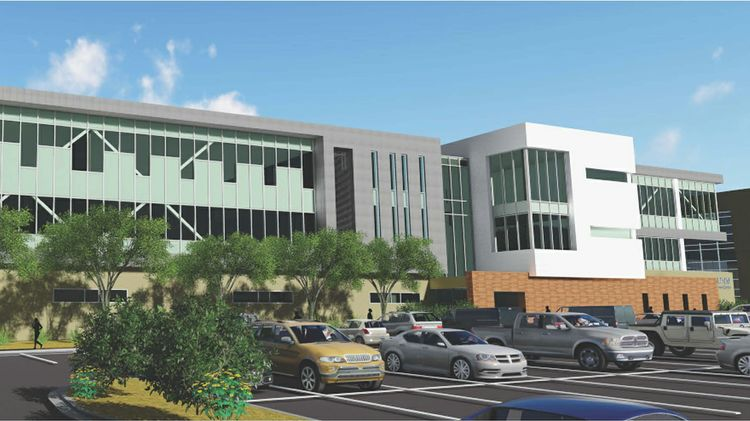 Health Education Building Phase 3 rendering