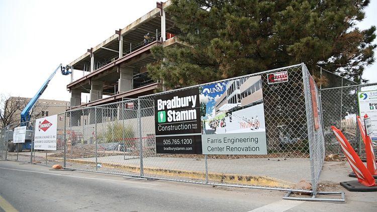 Farris Engineering Center construction site