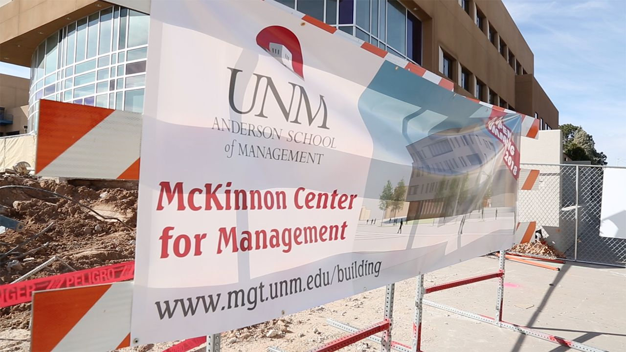 McKinnon Center for Management construction site