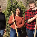 PPD arborists plant Piñon Pines for New Mexico Arbor Day