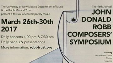 46th annual John David Robb Composers' Symposium set for March 26-30
