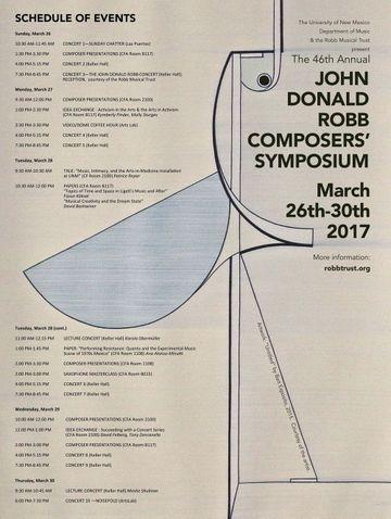 John Donald Robb Composers Symposium