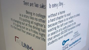 Instilling empathy: UNM Students raising awareness of homelessness