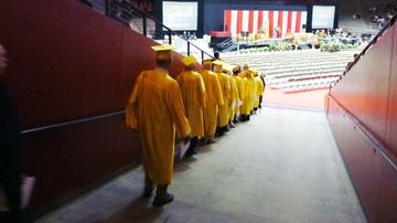 Golden Grads procession