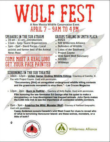 Wolf Fest Schedule