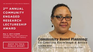Isaac receives 2nd annual Community Engaged Research Lecturership award