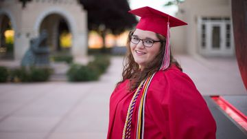 UNM senior overcomes brain cancer to graduate
