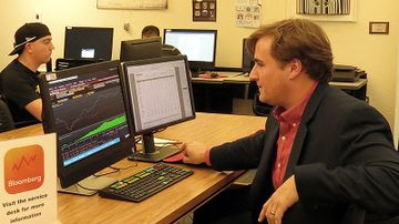 Anderson School finance students access Bloomberg Terminal