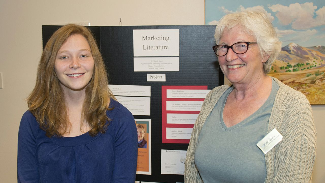 Niamh Short with mentor Katie Korkos