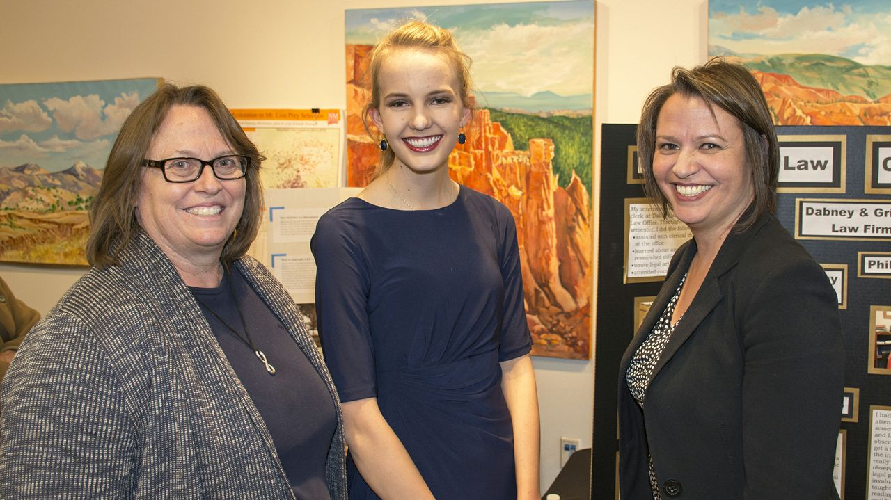 UNM-LA Executive Director Cynthia Rooney with Lauren Johnson and State Representative Stephanie Garcia Richard