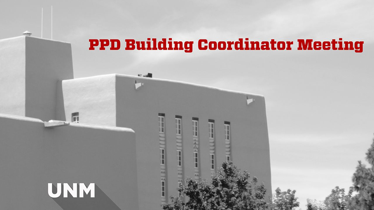 Building Coordinator Meeting