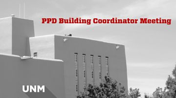 PPD Building Coordinator Meeting scheduled