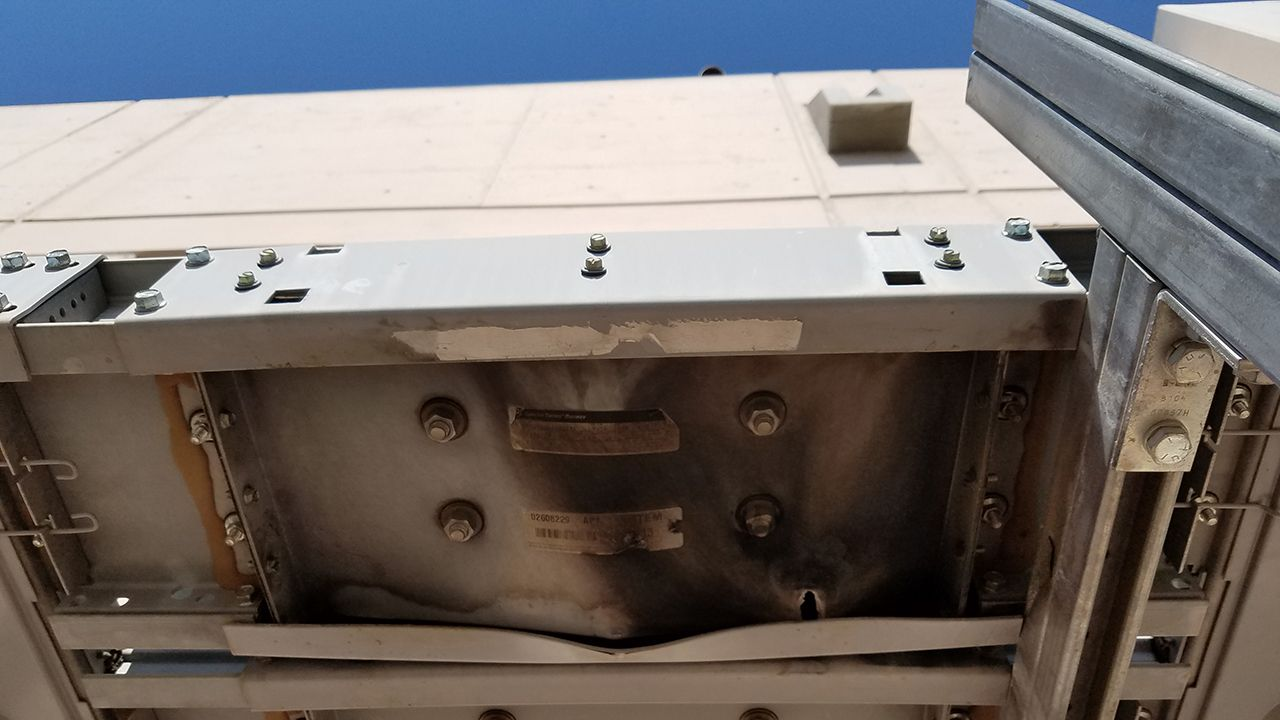 Lomas Chiller Damaged Bus Duct