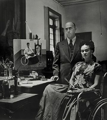 Frida Kahlo with Dr. Juan Farill