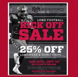 UNM Bookstores 'Kick Off' football season with great deals