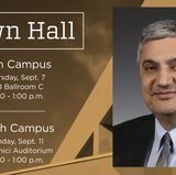 Town halls scheduled for main and north campuses
