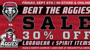 UNM Bookstores host 'Beat the Aggies' sale