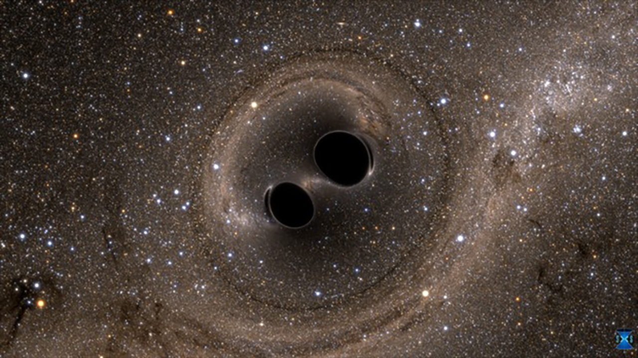 Two Black Holes Merge Into One