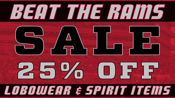 Beat The Rams One Day Sale At All Unm Bookstore