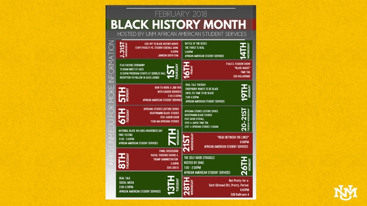 UNM Black History Month events
