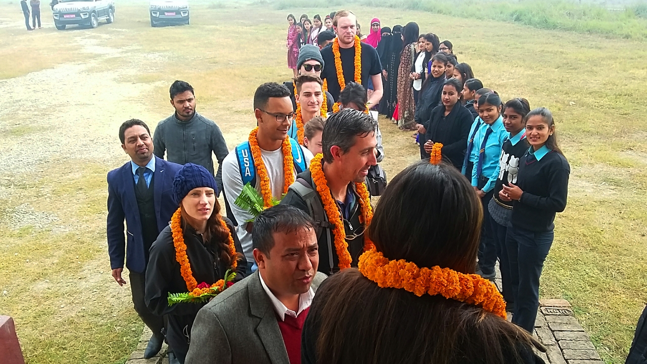 University of New Mexico students in Nepal