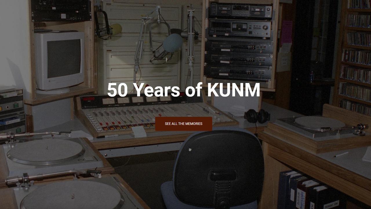 KUNM 50 years