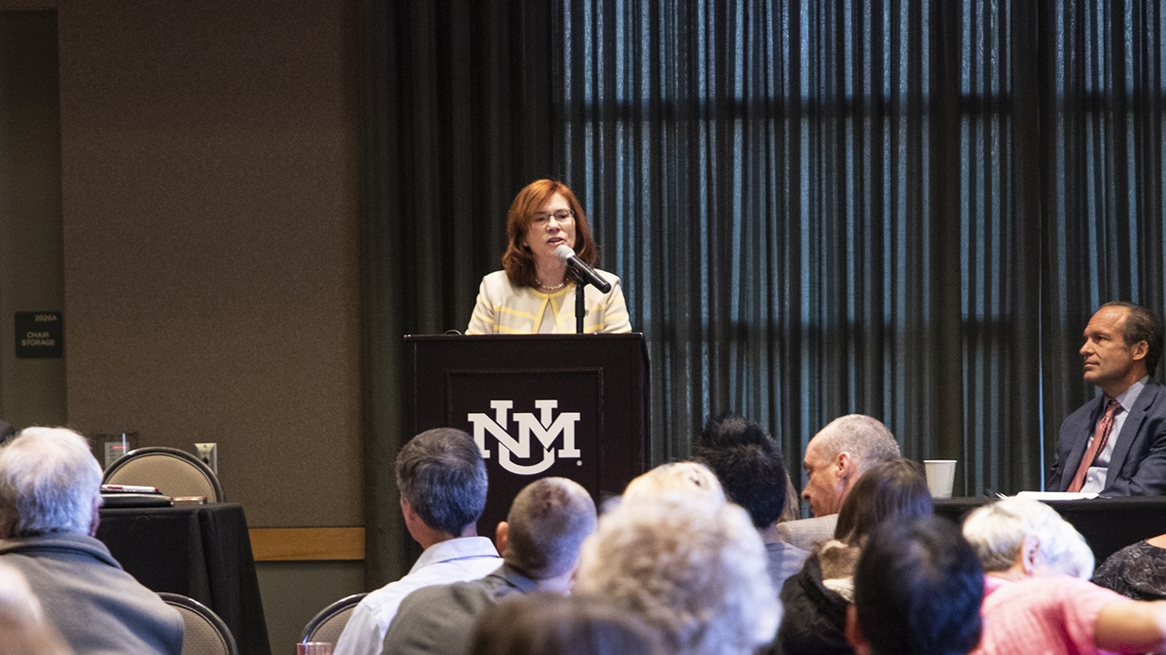 President Garnett Stokes launches UNM's Grand Challenges Initiative
