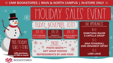 UNM Bookstores host annual holiday sales event Nov. 30