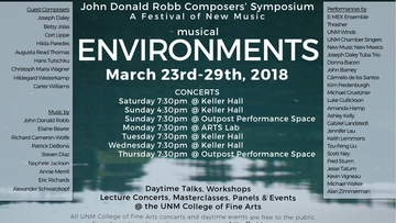 47th annual John Donald Robb Composers' Symposium