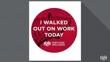 UNM's Employee Wellness sponsors 'Walk Out on Work Wednesday' event
