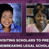 Visiting lecturers to present groundbreaking legal scholarship