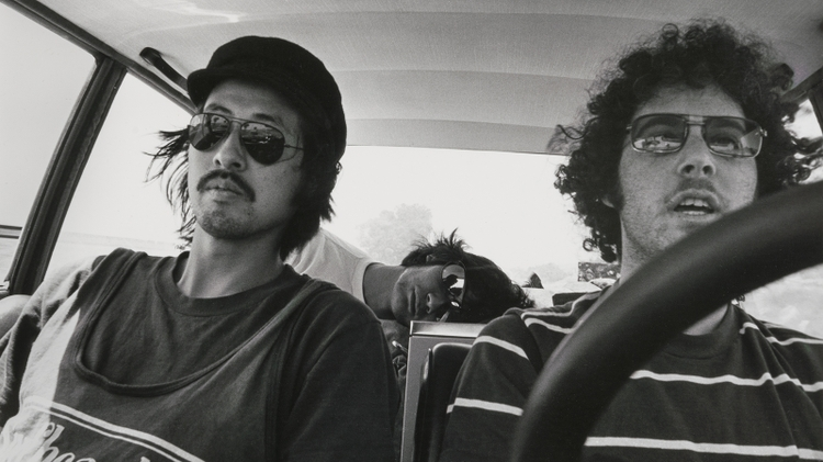 Patrick, Johnie, Dave, On The Road, 1976