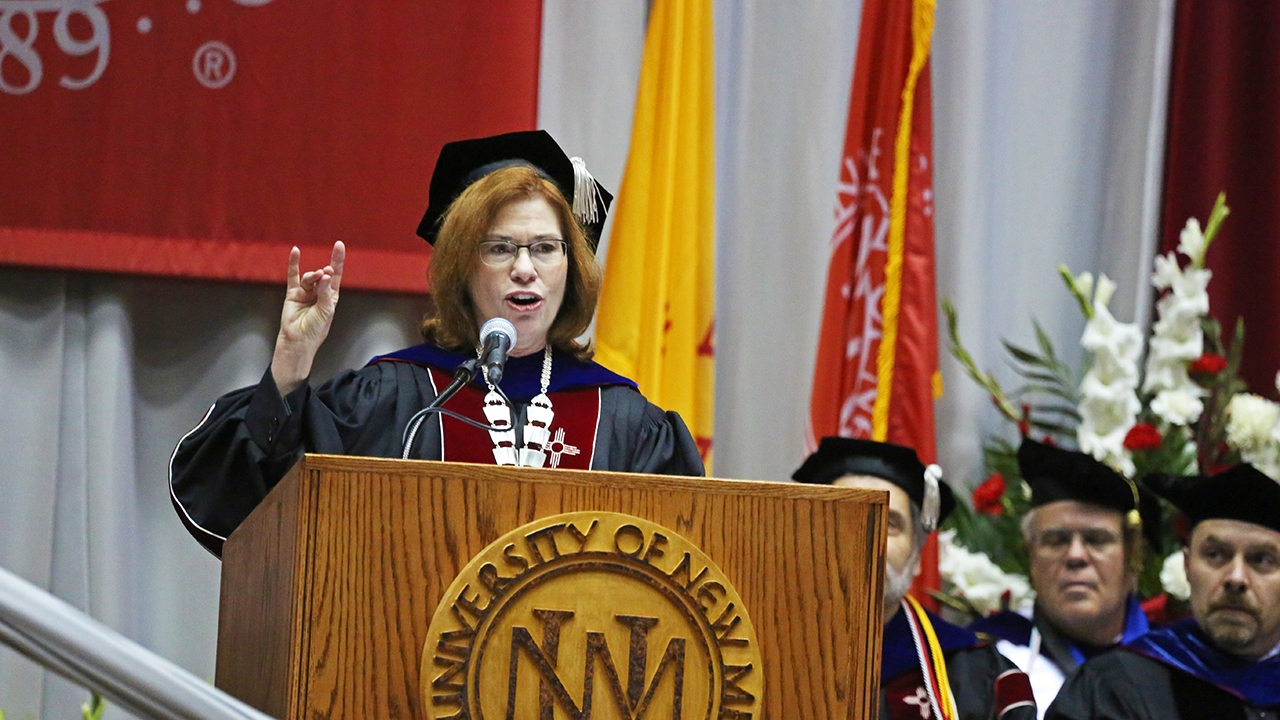 UNM celebrates Class of 2018; installation of President Garnett S. Stokes