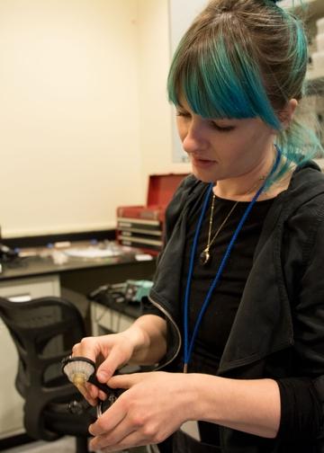 Graduate student Laura Berkowitz